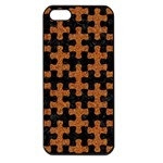 PUZZLE1 BLACK MARBLE & RUSTED METAL Apple iPhone 5 Seamless Case (Black) Front