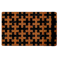 Puzzle1 Black Marble & Rusted Metal Apple Ipad 2 Flip Case