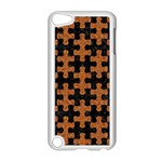 PUZZLE1 BLACK MARBLE & RUSTED METAL Apple iPod Touch 5 Case (White) Front