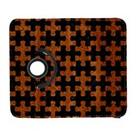 PUZZLE1 BLACK MARBLE & RUSTED METAL Galaxy S3 (Flip/Folio) Front