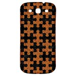 PUZZLE1 BLACK MARBLE & RUSTED METAL Samsung Galaxy S3 S III Classic Hardshell Back Case Front