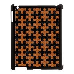 Puzzle1 Black Marble & Rusted Metal Apple Ipad 3/4 Case (black)
