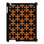 PUZZLE1 BLACK MARBLE & RUSTED METAL Apple iPad 3/4 Case (Black) Front