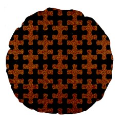 Puzzle1 Black Marble & Rusted Metal Large 18  Premium Round Cushions