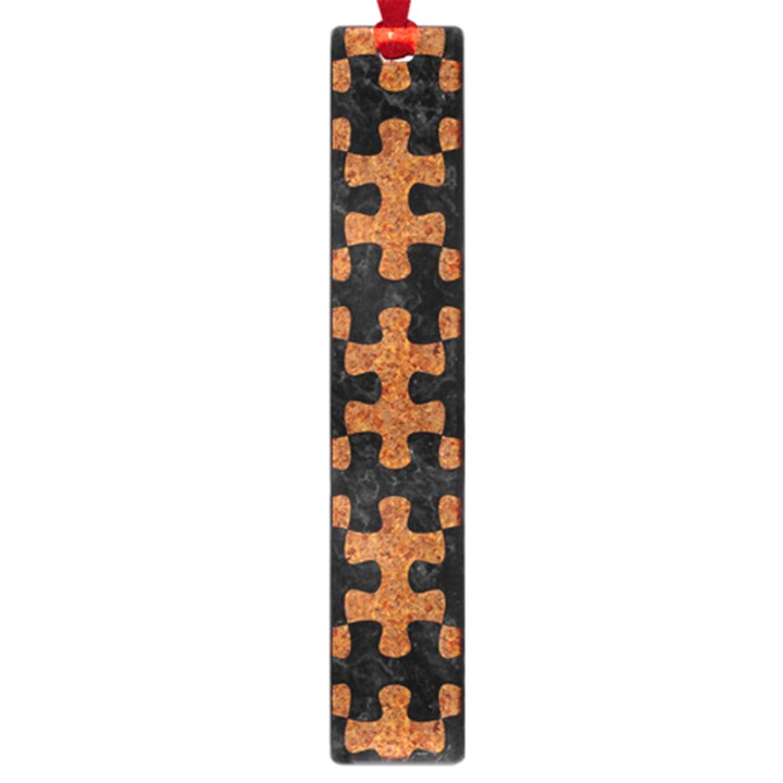 PUZZLE1 BLACK MARBLE & RUSTED METAL Large Book Marks