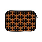 PUZZLE1 BLACK MARBLE & RUSTED METAL Apple iPad Mini Zipper Cases Front