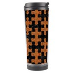 PUZZLE1 BLACK MARBLE & RUSTED METAL Travel Tumbler Left