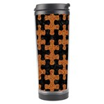 PUZZLE1 BLACK MARBLE & RUSTED METAL Travel Tumbler Center