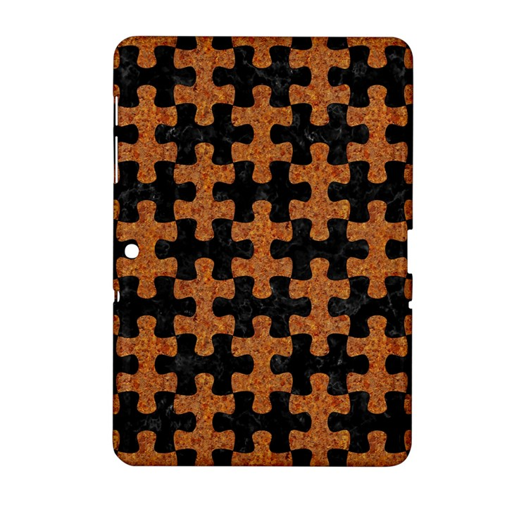 PUZZLE1 BLACK MARBLE & RUSTED METAL Samsung Galaxy Tab 2 (10.1 ) P5100 Hardshell Case