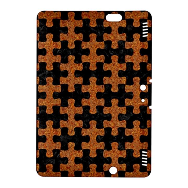 PUZZLE1 BLACK MARBLE & RUSTED METAL Kindle Fire HDX 8.9  Hardshell Case