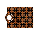 PUZZLE1 BLACK MARBLE & RUSTED METAL Kindle Fire HD (2013) Flip 360 Case Front