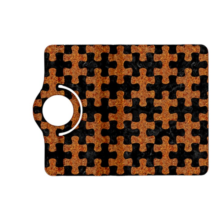 PUZZLE1 BLACK MARBLE & RUSTED METAL Kindle Fire HD (2013) Flip 360 Case
