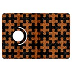 PUZZLE1 BLACK MARBLE & RUSTED METAL Kindle Fire HDX Flip 360 Case Front