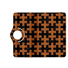 Puzzle1 Black Marble & Rusted Metal Kindle Fire Hdx 8 9  Flip 360 Case