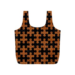 Puzzle1 Black Marble & Rusted Metal Full Print Recycle Bags (s)