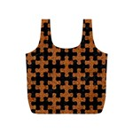 PUZZLE1 BLACK MARBLE & RUSTED METAL Full Print Recycle Bags (S)  Back