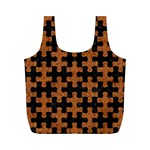 PUZZLE1 BLACK MARBLE & RUSTED METAL Full Print Recycle Bags (M)  Front
