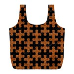 PUZZLE1 BLACK MARBLE & RUSTED METAL Full Print Recycle Bags (L)  Back