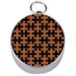 PUZZLE1 BLACK MARBLE & RUSTED METAL Silver Compasses Front