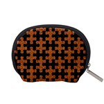 PUZZLE1 BLACK MARBLE & RUSTED METAL Accessory Pouches (Small)  Back
