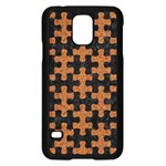 PUZZLE1 BLACK MARBLE & RUSTED METAL Samsung Galaxy S5 Case (Black) Front