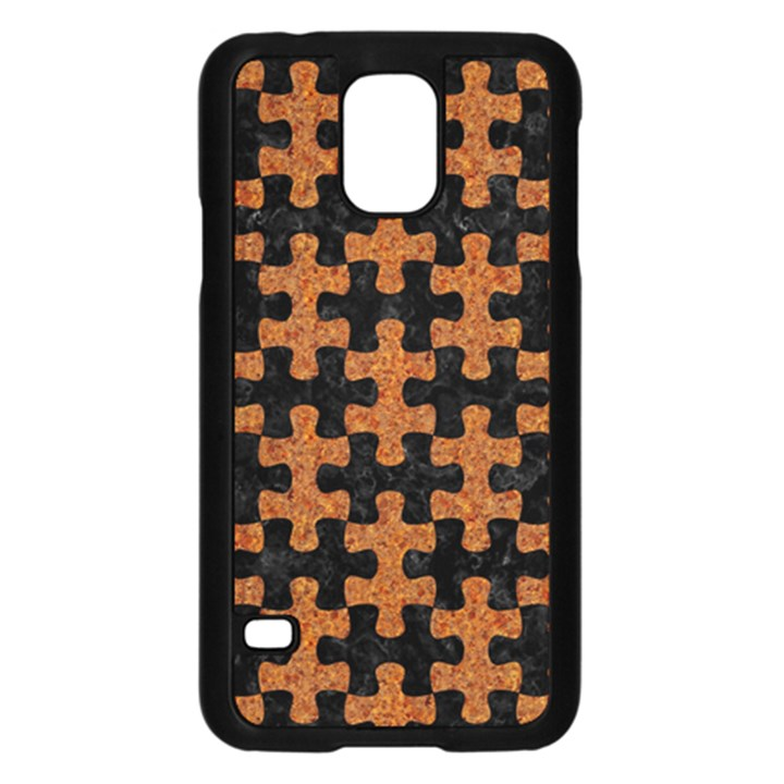 PUZZLE1 BLACK MARBLE & RUSTED METAL Samsung Galaxy S5 Case (Black)