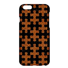 Puzzle1 Black Marble & Rusted Metal Apple Iphone 6 Plus/6s Plus Hardshell Case