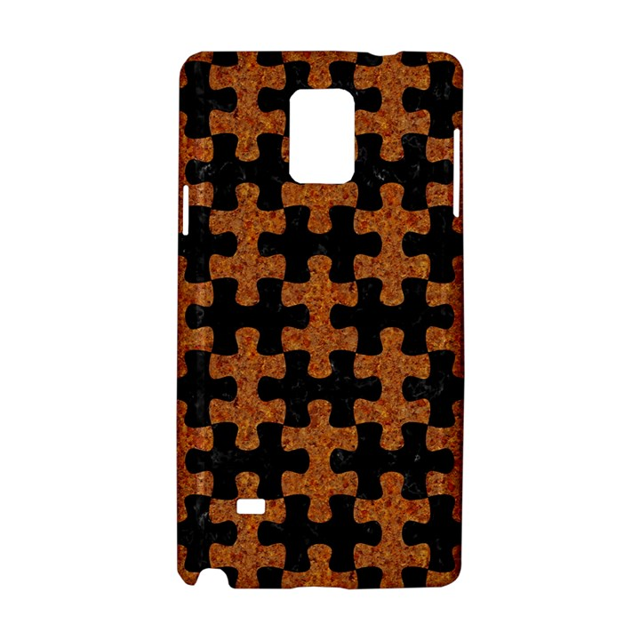 PUZZLE1 BLACK MARBLE & RUSTED METAL Samsung Galaxy Note 4 Hardshell Case