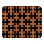 PUZZLE1 BLACK MARBLE & RUSTED METAL Double Sided Flano Blanket (Large)   Blanket Back