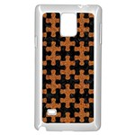 PUZZLE1 BLACK MARBLE & RUSTED METAL Samsung Galaxy Note 4 Case (White) Front