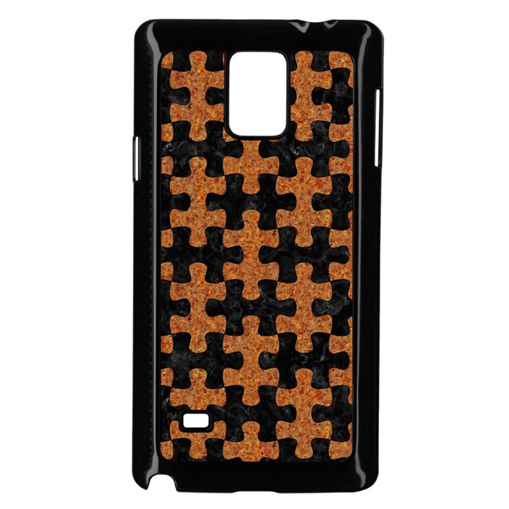 PUZZLE1 BLACK MARBLE & RUSTED METAL Samsung Galaxy Note 4 Case (Black)