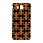 PUZZLE1 BLACK MARBLE & RUSTED METAL Samsung Galaxy Alpha Hardshell Back Case Front