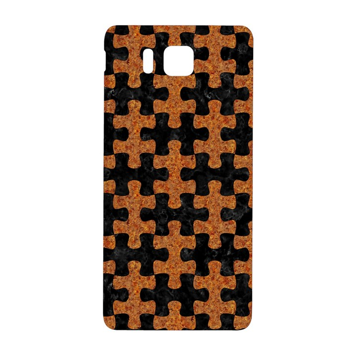 PUZZLE1 BLACK MARBLE & RUSTED METAL Samsung Galaxy Alpha Hardshell Back Case