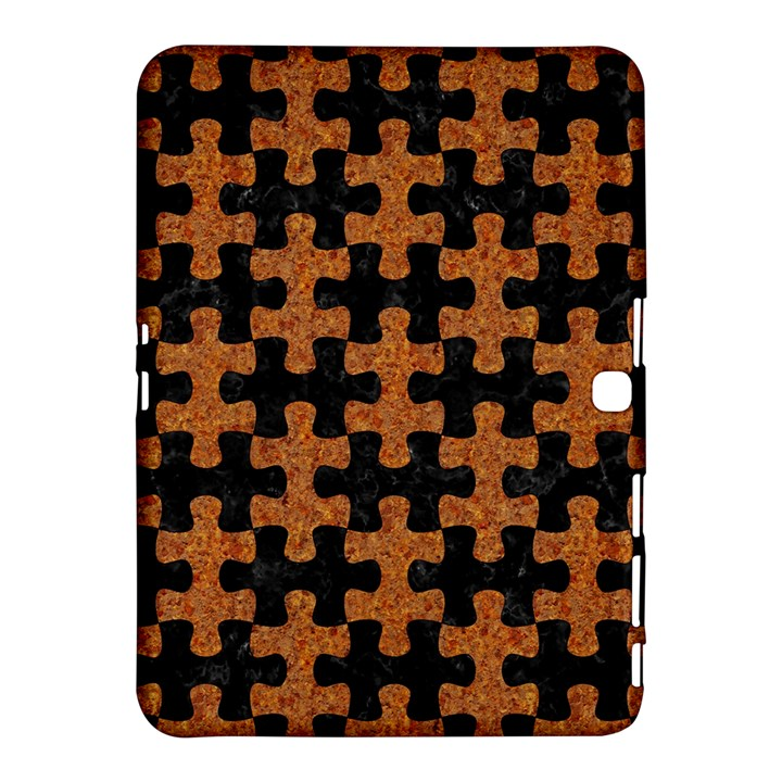 PUZZLE1 BLACK MARBLE & RUSTED METAL Samsung Galaxy Tab 4 (10.1 ) Hardshell Case