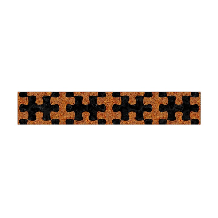 PUZZLE1 BLACK MARBLE & RUSTED METAL Flano Scarf (Mini)