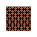 PUZZLE1 BLACK MARBLE & RUSTED METAL Satin Bandana Scarf Front