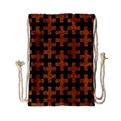 Puzzle1 Black Marble & Rusted Metal Drawstring Bag (small)