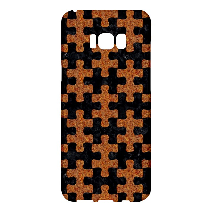 PUZZLE1 BLACK MARBLE & RUSTED METAL Samsung Galaxy S8 Plus Hardshell Case