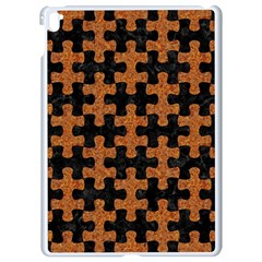 Puzzle1 Black Marble & Rusted Metal Apple Ipad Pro 9 7   White Seamless Case