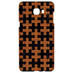 Puzzle1 Black Marble & Rusted Metal Samsung C9 Pro Hardshell Case