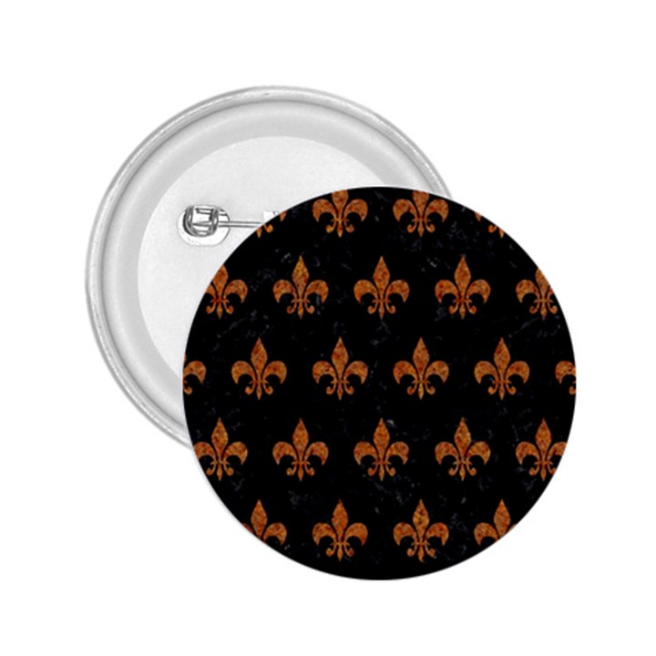 ROYAL1 BLACK MARBLE & RUSTED METAL 2.25  Buttons