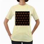 ROYAL1 BLACK MARBLE & RUSTED METAL Women s Yellow T-Shirt Front