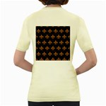 ROYAL1 BLACK MARBLE & RUSTED METAL Women s Yellow T-Shirt Back