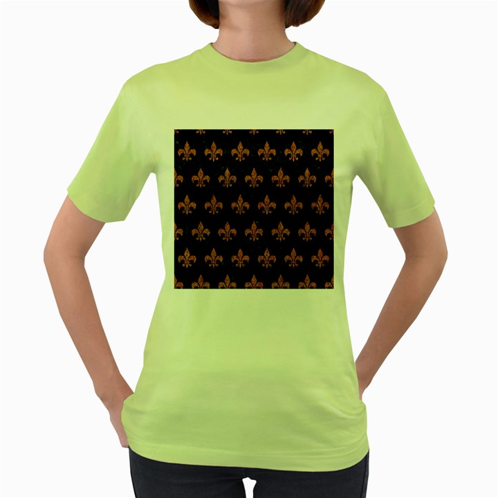 ROYAL1 BLACK MARBLE & RUSTED METAL Women s Green T-Shirt