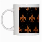 ROYAL1 BLACK MARBLE & RUSTED METAL White Mugs Left