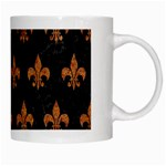 ROYAL1 BLACK MARBLE & RUSTED METAL White Mugs Right