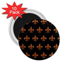 Royal1 Black Marble & Rusted Metal 2 25  Magnets (10 Pack)