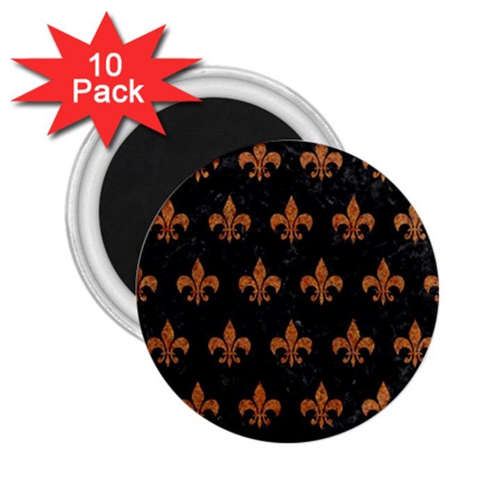 ROYAL1 BLACK MARBLE & RUSTED METAL 2.25  Magnets (10 pack)