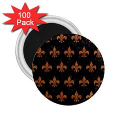 Royal1 Black Marble & Rusted Metal 2 25  Magnets (100 Pack)