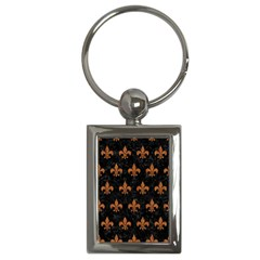 Royal1 Black Marble & Rusted Metal Key Chains (rectangle)